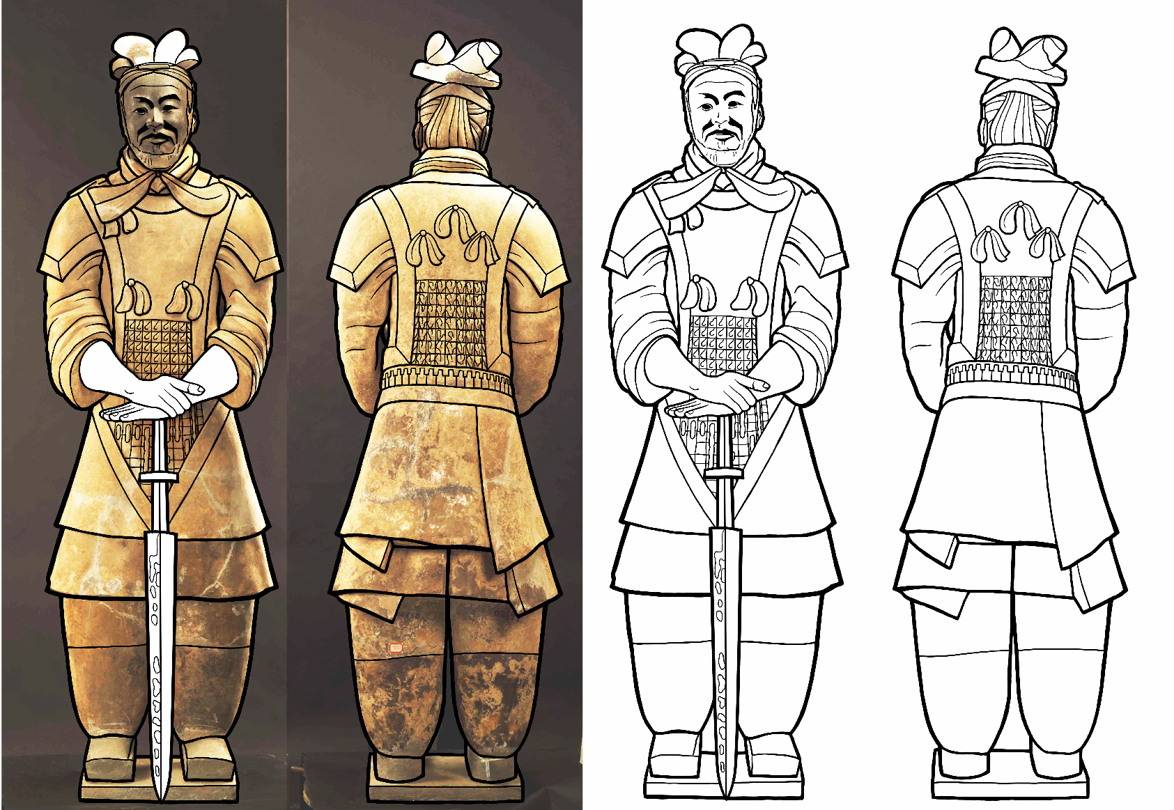 Terracotta Warrior drawing