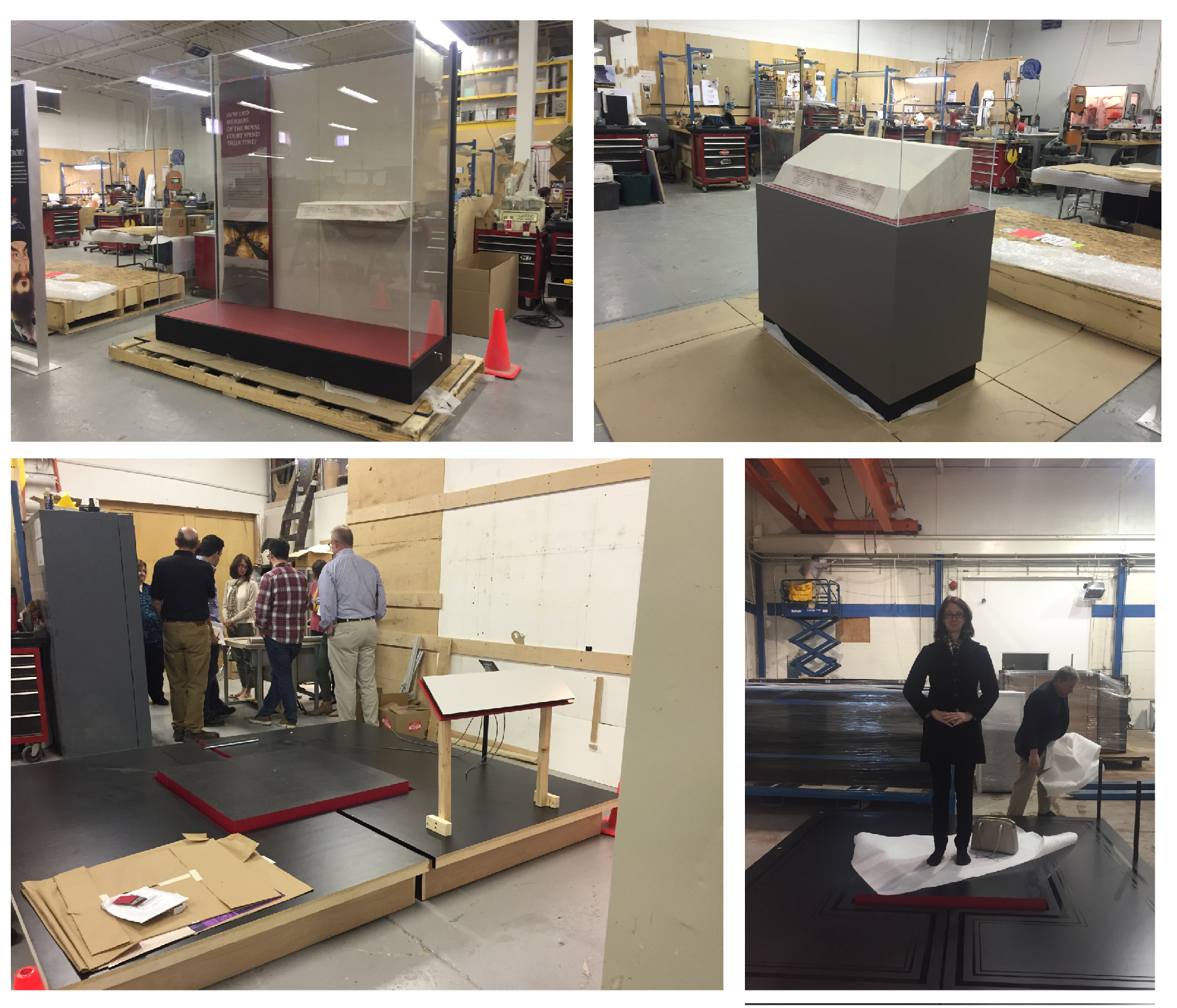 Exhibit platform and case fabrication